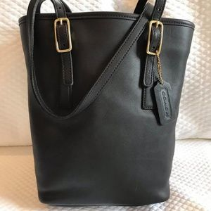 Coach Black Bucket Purse No. G1D-9803